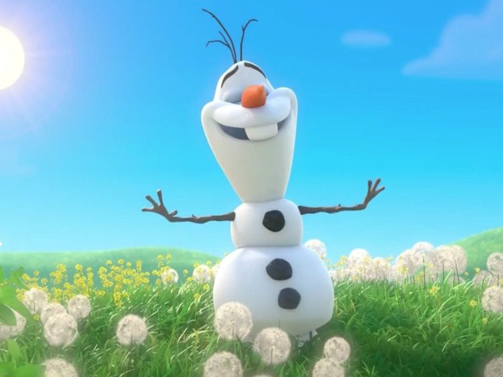 Meet Olaf from Frozen - Yarra Valley Accommodation