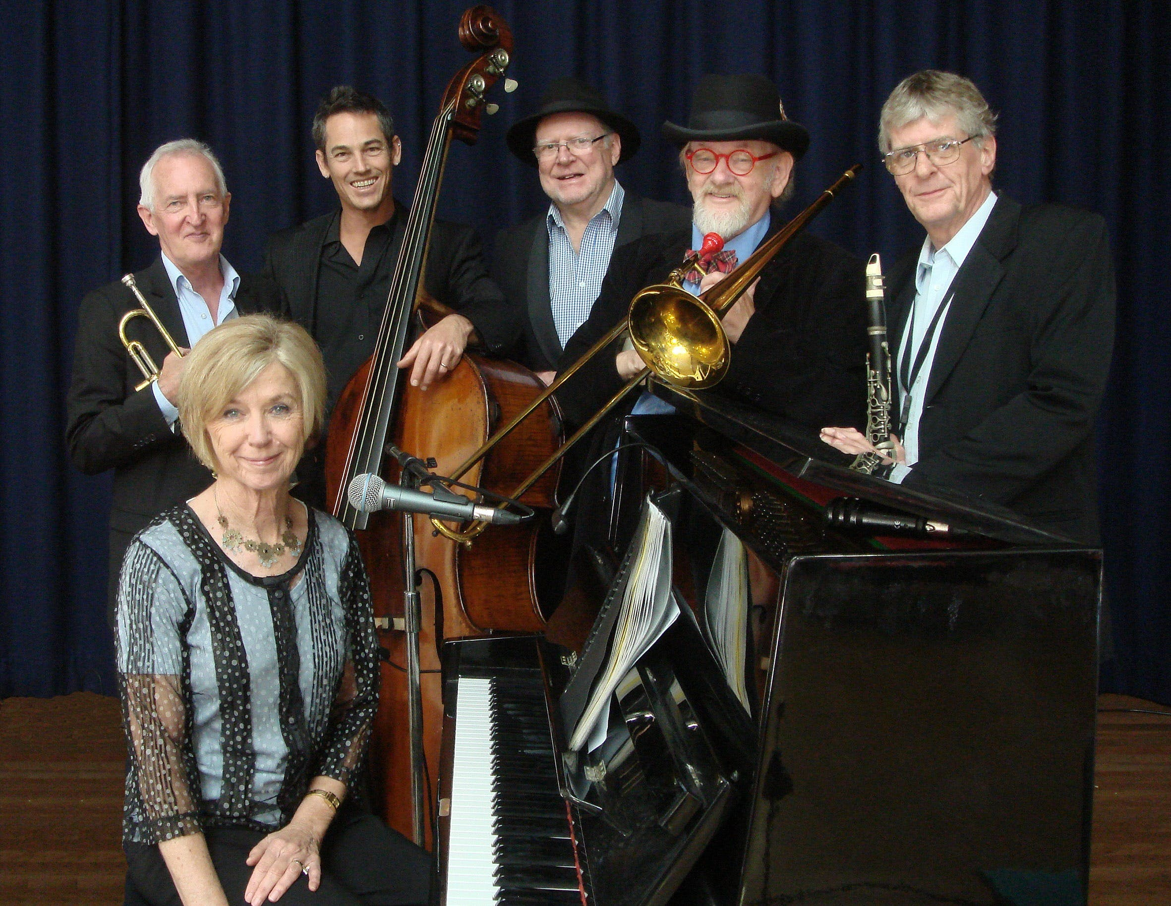 The Caxton Street Jazz Band in the Swigmore Hall at Robert Channon Wines - Yarra Valley Accommodation